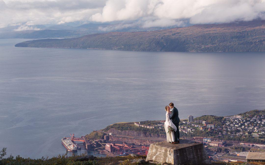 Bryllupsfotografering i Fagernesfjellet